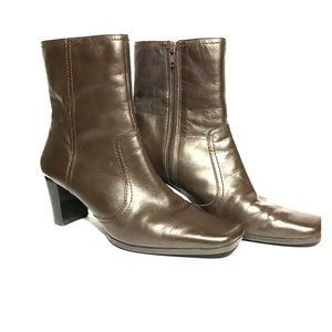 NINE & Company dark brown leather booties